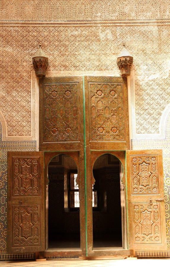 Intérieur de Telouet Kasbah photographie stock
