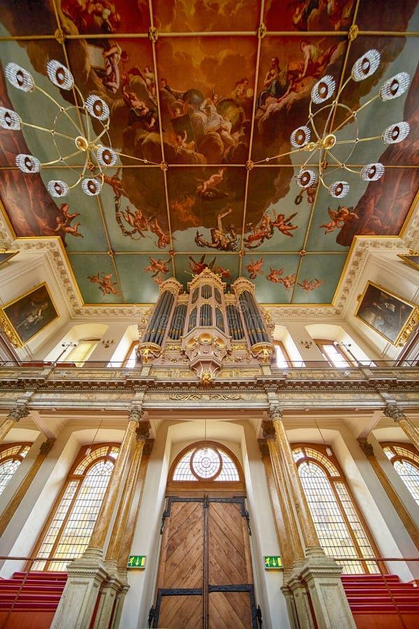 Intérieur de théâtre de Sheldonian Université d'Oxford oxford l'angleterre photographie stock