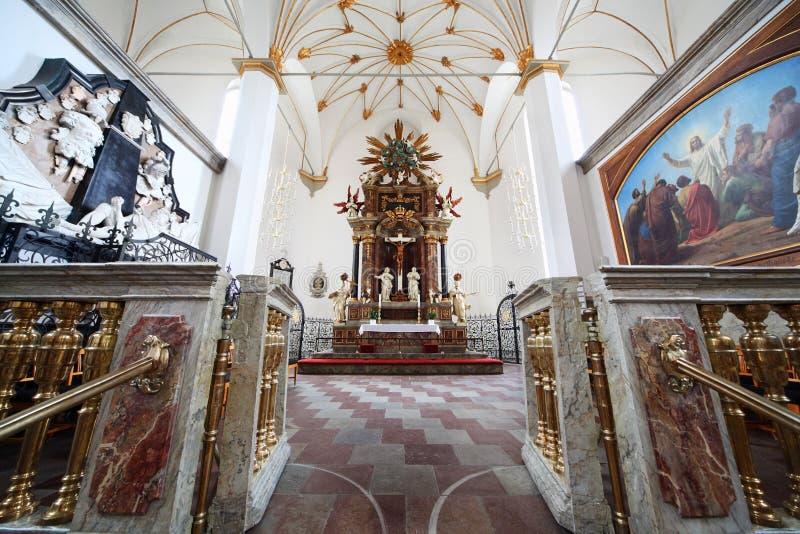 Intérieur de Trinitatis Kirke à Copenhague photo stock
