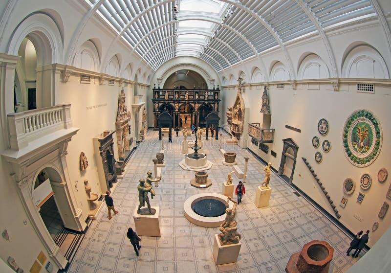 Intérieur de Victoria et d'Albert Museum photographie stock libre de droits