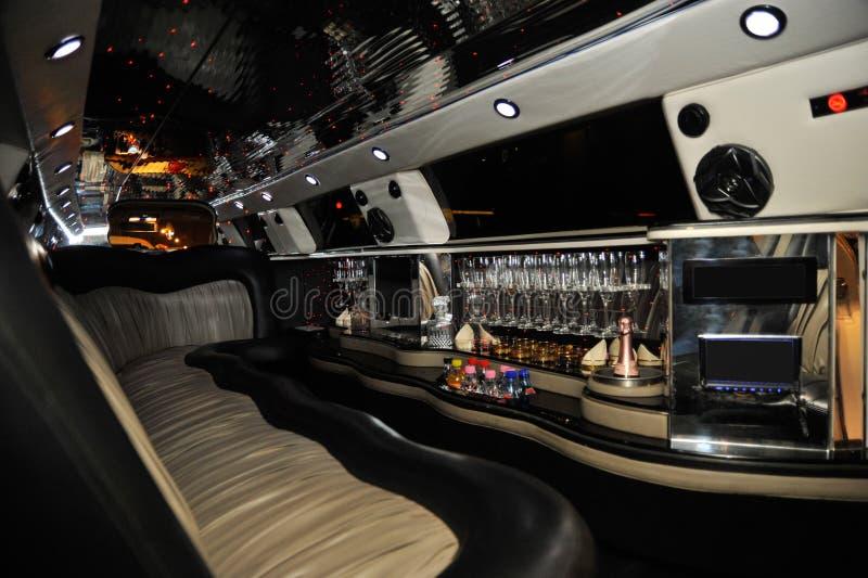 Intérieur de voiture de limousine image libre de droits