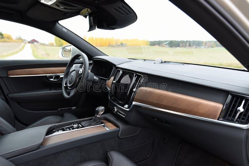 Intérieur de voiture de Volvo S90 2017 image libre de droits