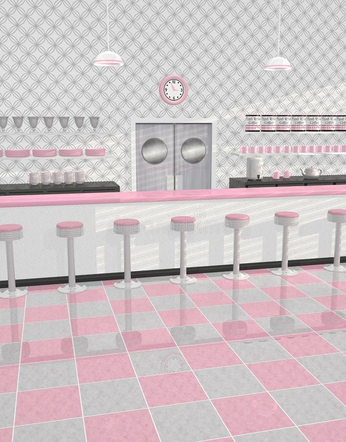 Intérieur de wagon-restaurant illustration libre de droits