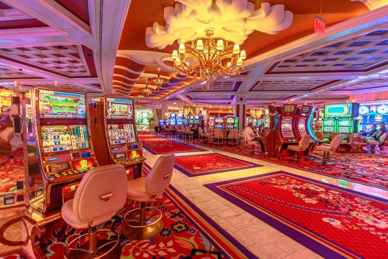 Intérieur de Wynn Casino images libres de droits