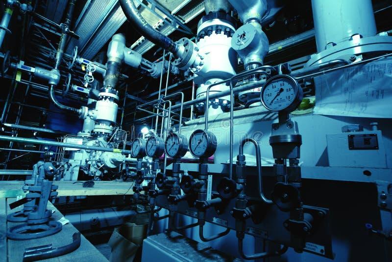 Intérieur des installations de traitement des effluents  images stock