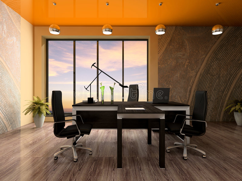 Intérieur du bureau moderne illustration libre de droits