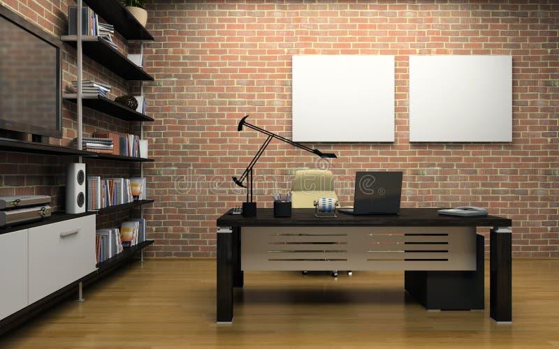 Intérieur du bureau privé illustration de vecteur