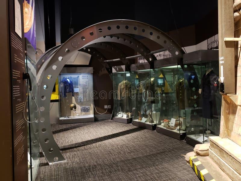 Intérieur du centre Etats-Unis d'histoire de l'Oklahoma photographie stock