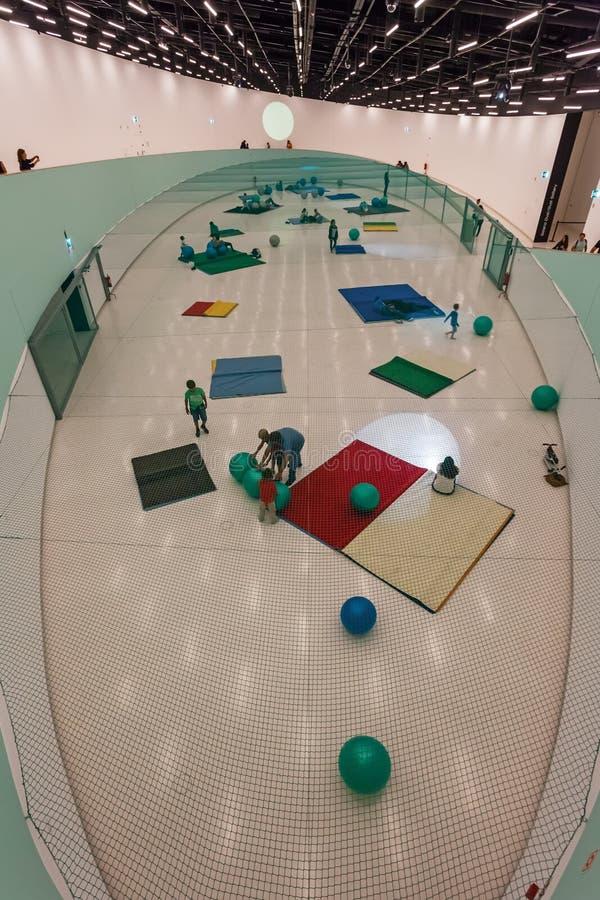 Intérieur du MAAT - Musée d'Art, architecture et technologie photo stock