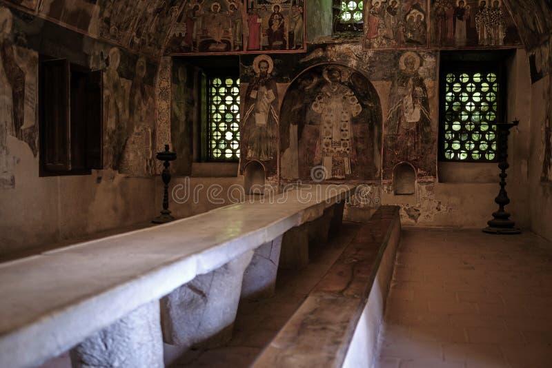 Intérieur du monastère de Bachkovo salle à manger 1 images stock