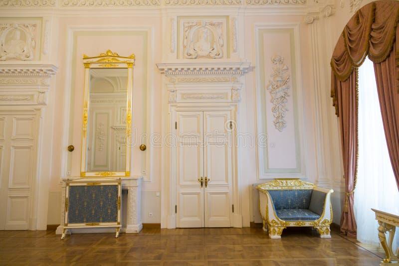 Intérieur du palais de Petroff, Moscou, Russie images libres de droits