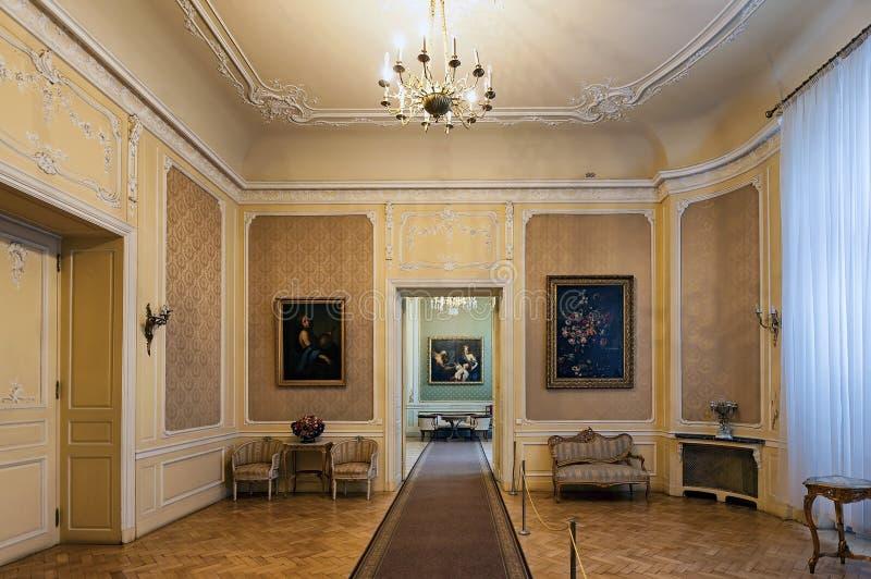 Intérieur du palais de Potocki à Lviv, Ukraine photo stock