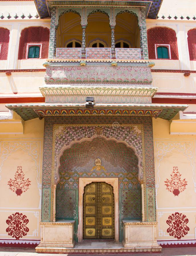 Intérieur du palais Jaipur, Inde de ville photos libres de droits