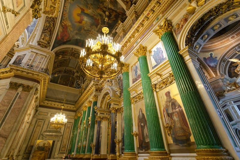 Intérieur du ` s de cathédrale du ` s d'Isaac de saint, St Petersburg photos stock