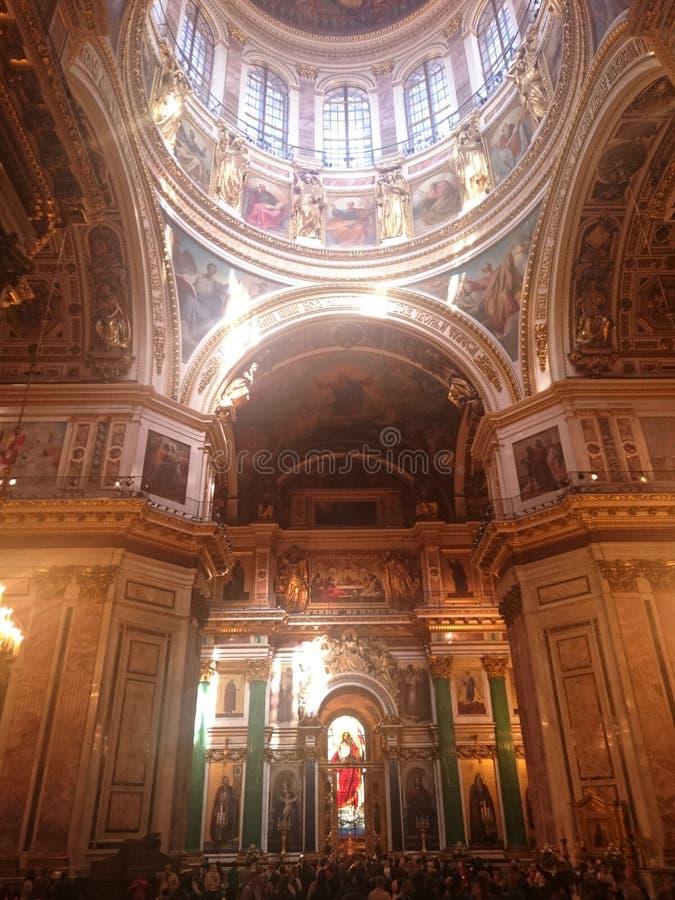 Intérieur du saint Isaac& x27 ; cathédrale de s à St Petersburg, Russie photos stock