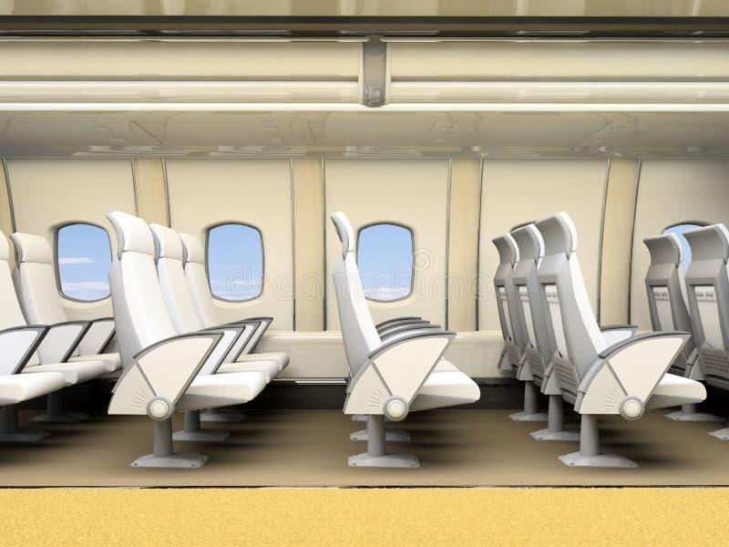 Intérieur du salon d'avion illustration stock