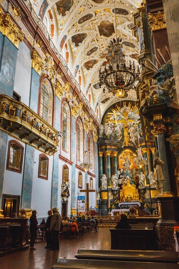 Intérieur du sanctuaire de Jasna Gora dans Czestochowa, Pologne photographie stock