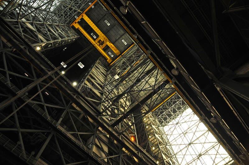 Intérieur du VAB, Kennedy Space Center photographie stock libre de droits
