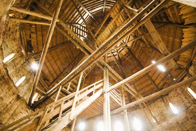 Intérieur en bois image libre de droits