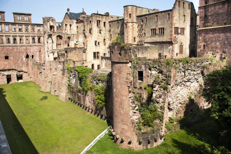 Intérieur et décor du château d'Heidelberg ou du Heidelberger Schloss en Allemagne photo libre de droits