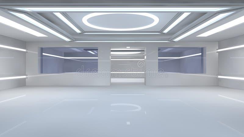 Intérieur futuriste illustration de vecteur