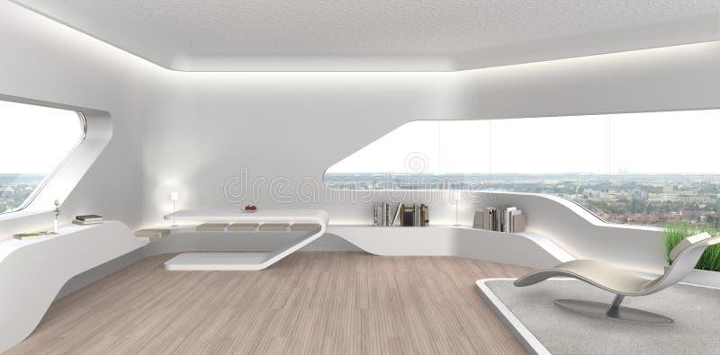 Int Rieur Futuriste De Salon Illustration Stock