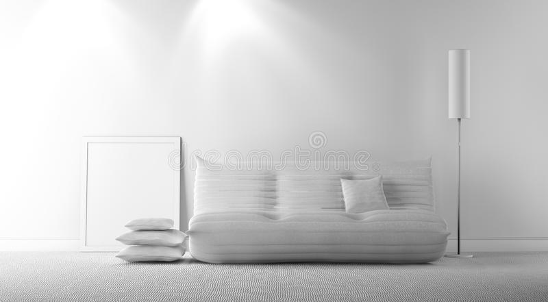 Intérieur gris illustration libre de droits