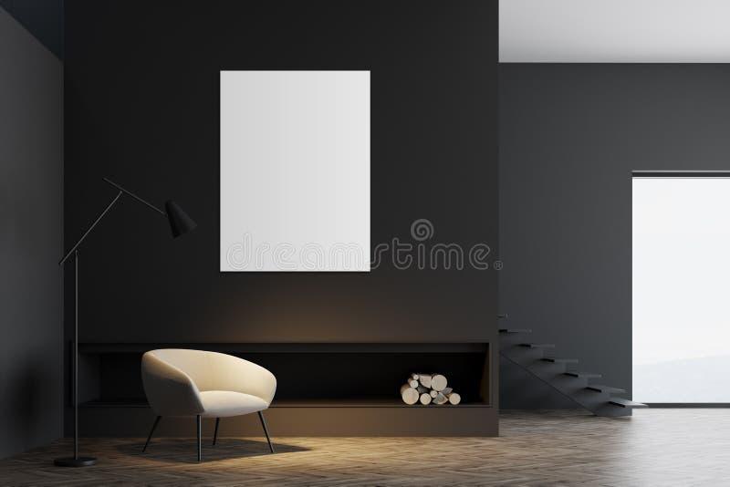 Intérieur Gris De Salon De Minimalistic, Affiche ...