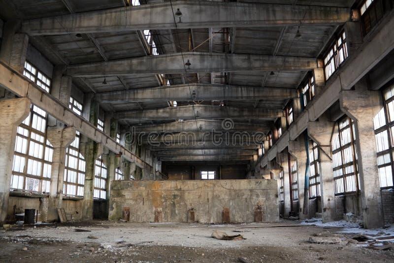Intérieur industriel abandonné image libre de droits