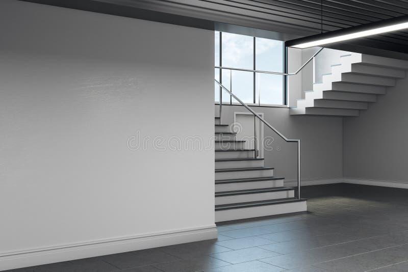 Intérieur léger de couloir d'école avec le copyspace illustration de vecteur