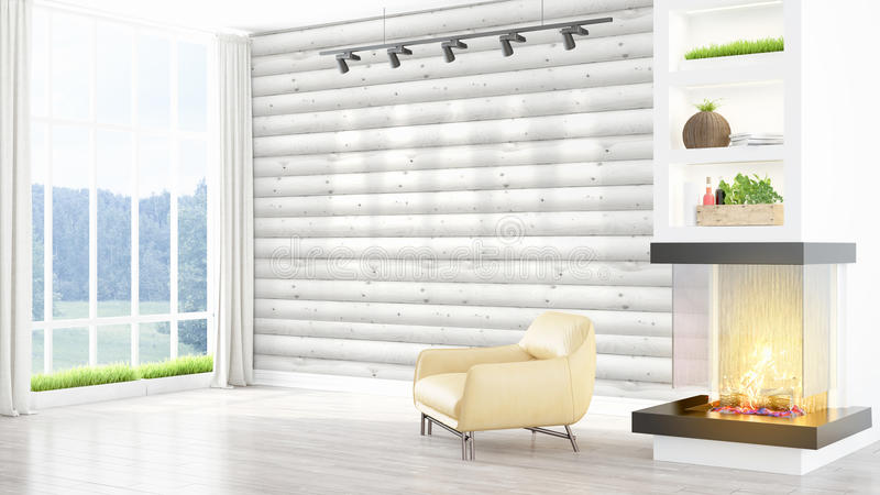 Download Intérieur Lumineux Moderne Rendu 3d Illustration Stock - Illustration du appartement, concept: 87700011