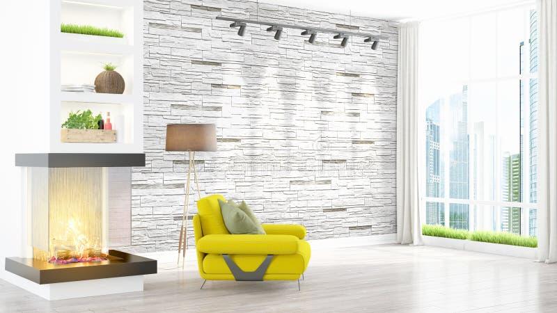 Download Intérieur Lumineux Moderne Rendu 3d Illustration Stock - Illustration du décor, appartement: 87700013