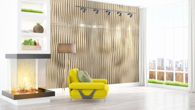 Download Intérieur Lumineux Moderne Rendu 3d Illustration Stock - Illustration du hôtel, intérieur: 87700045