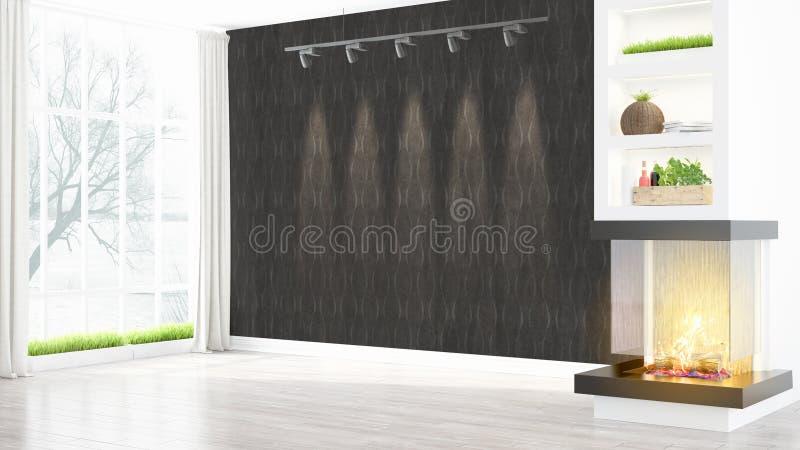 Download Intérieur Lumineux Moderne Rendu 3d Illustration Stock - Illustration du intérieur, incendie: 87700048