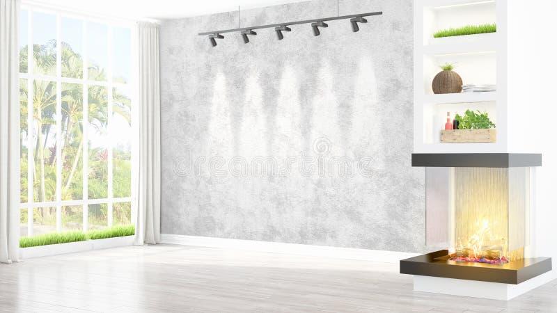 Download Intérieur Lumineux Moderne Rendu 3d Illustration Stock - Illustration du intérieur, vide: 87700077