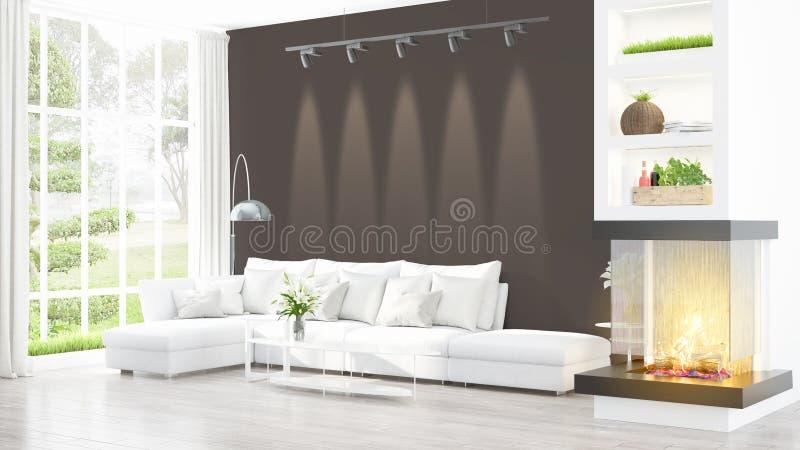 Download Intérieur Lumineux Moderne Rendu 3d Illustration Stock - Illustration du maison, parquet: 87700142