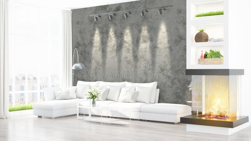 Download Intérieur Lumineux Moderne Rendu 3d Illustration Stock - Illustration du intérieur, domestique: 87700190