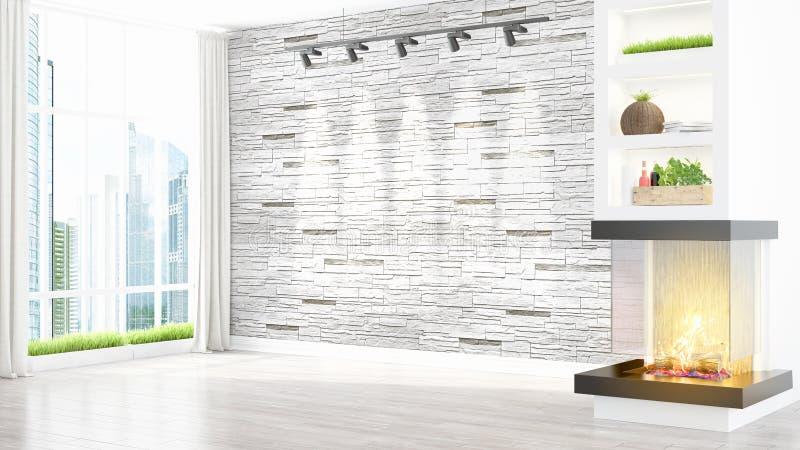 Download Intérieur Lumineux Moderne Rendu 3d Illustration Stock - Illustration du meubles, personne: 87700200