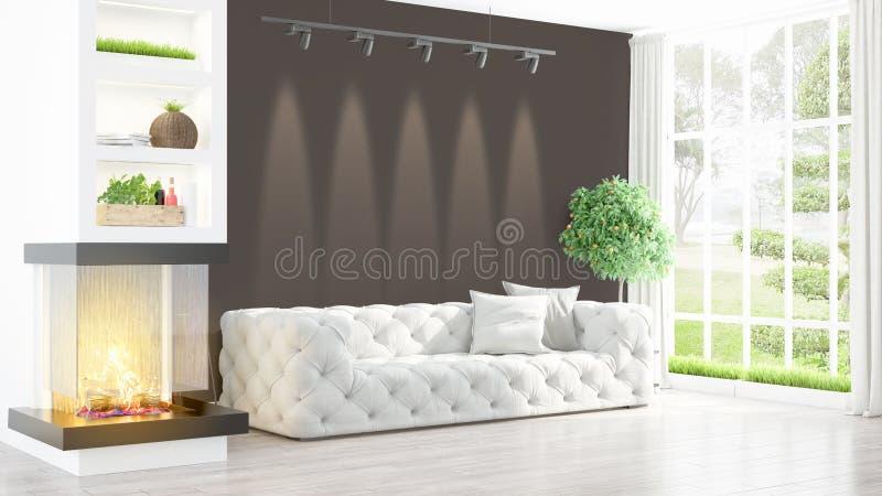 Download Intérieur Lumineux Moderne Rendu 3d Illustration Stock - Illustration du décoration, beau: 87700251