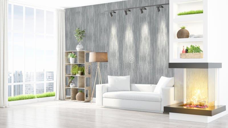 Download Intérieur Lumineux Moderne Rendu 3d Illustration Stock - Illustration du décoration, intérieur: 87700273