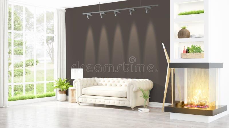 Download Intérieur Lumineux Moderne Rendu 3d Illustration Stock - Illustration du couleur, lumineux: 87700394