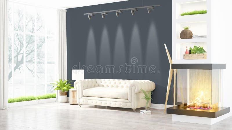 Download Intérieur Lumineux Moderne Rendu 3d Illustration Stock - Illustration du étage, gris: 87700397