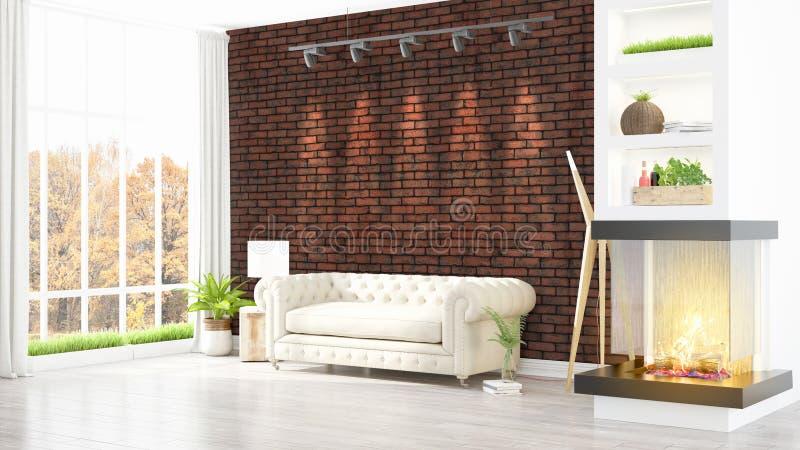 Download Intérieur Lumineux Moderne Rendu 3d Illustration Stock - Illustration du beau, meubles: 87700416