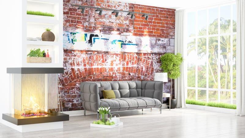 Download Intérieur Lumineux Moderne Rendu 3d Illustration Stock - Illustration du appartement, vieux: 87700489