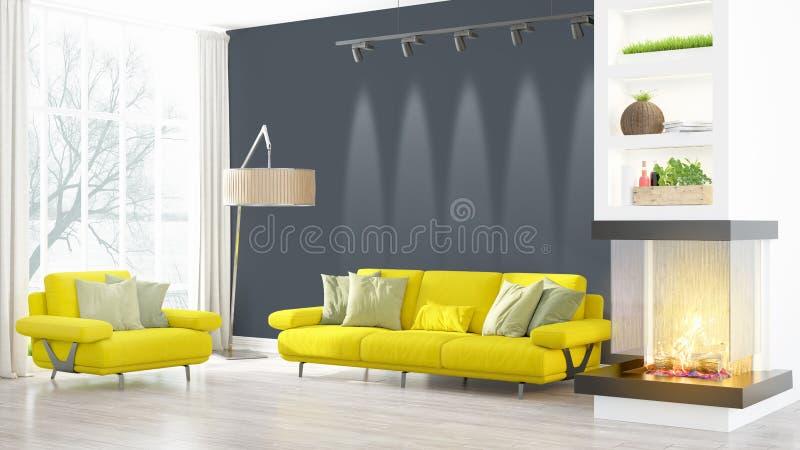 Download Intérieur Lumineux Moderne Rendu 3d Illustration Stock - Illustration du maison, lifestyle: 87700564