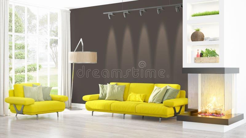 Download Intérieur Lumineux Moderne Rendu 3d Illustration Stock - Illustration du home, vieux: 87700567
