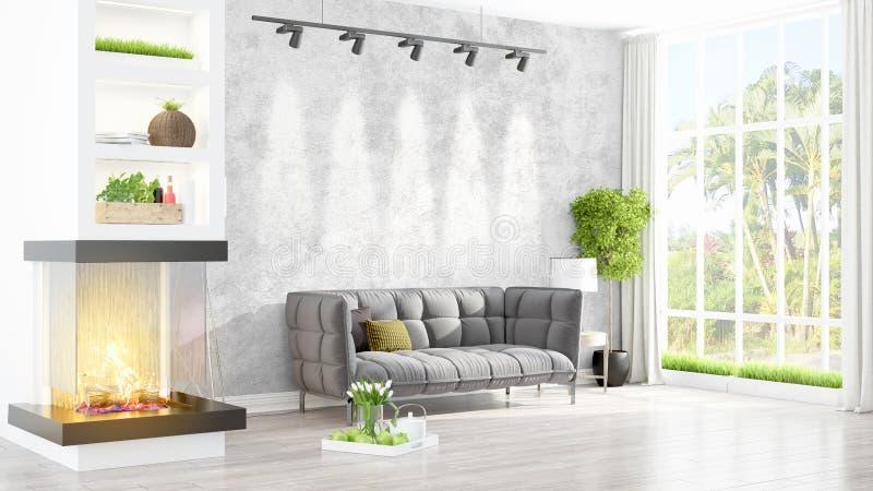Download Intérieur Lumineux Moderne Rendu 3d Illustration Stock - Illustration du étage, conception: 87700569