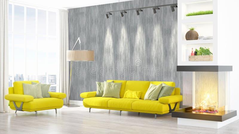 Download Intérieur Lumineux Moderne Rendu 3d Illustration Stock - Illustration du home, vide: 87700575