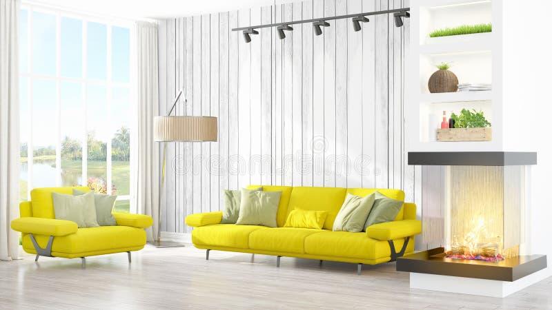 Download Intérieur Lumineux Moderne Rendu 3d Illustration Stock - Illustration du décoration, home: 87700596