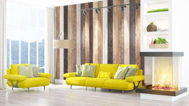 Download Intérieur Lumineux Moderne Rendu 3d Illustration Stock - Illustration du intérieur, décoratif: 87700605